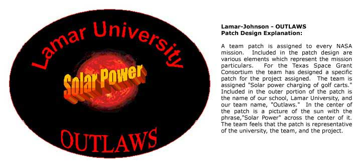 OUTLAWS team patch and description
