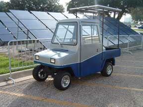Outlaws Solar Powered Charging Golf Cart