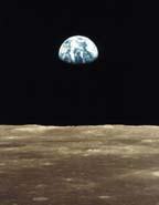 View of Earth from Moon surface